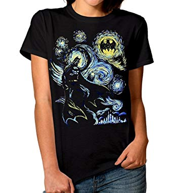 Batman Starry Night T-Shirt, DC Comics Men's Women's Tee
