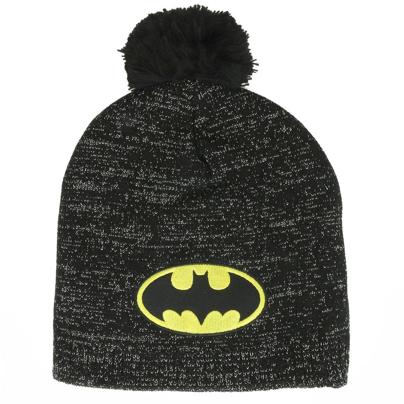 Berretta Batman Metallic Lurex Pom Beanie Winter Hat DC Comics Bioworld