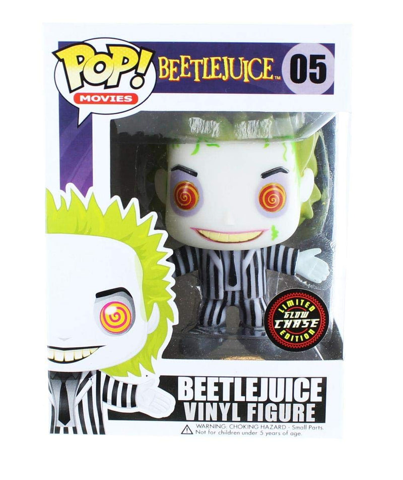 Funko Beetlejuice POP Vinyl Figure: Beetlejuice (Glow in The Dark CHASE Variant) - Kryptonite Character Store
