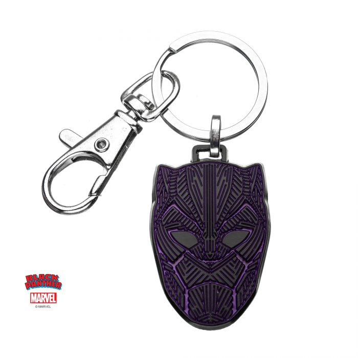 Black Panther Mask Base Metal Keychain - Kryptonite Character Store