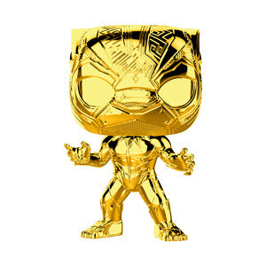 Funko Pop Marvel Studios 10 - Black Panther (Gold Chrome) Collectible Figure