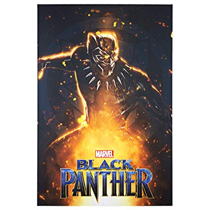 "Black Panther Fire Sparks Canvas Print 24"" x 36"" - Kryptonite Character Store"