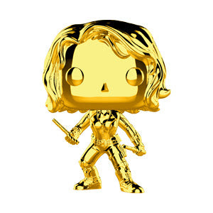 Funko Pop Marvel Studios 10 - Black Widow (Gold Chrome) Collectible Figure