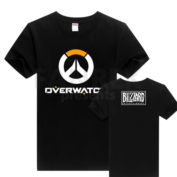 JINX Overwatch  Full Logo Tee Shirt Adult T-Shirt