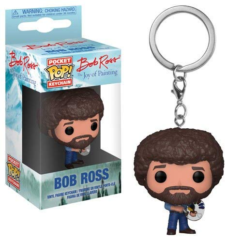 Funko POP! Keychain: TV Bob Ross Collectible Figure, Multicolor - Kryptonite Character Store