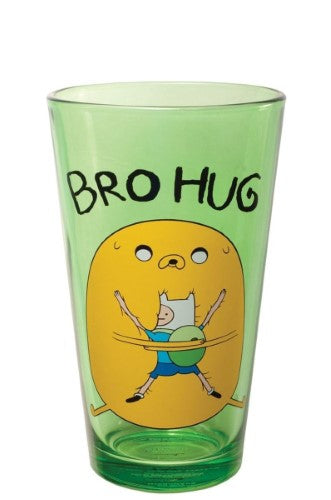 "Adventure Time - Finn and Jake ""Bro Hug"" Pint Glass - Kryptonite Character Store"