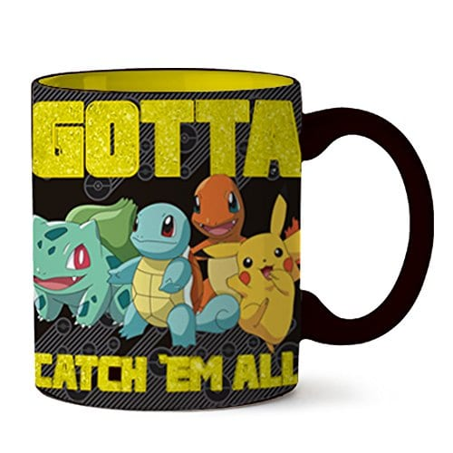 "Silver Buffalo Pokemon ""Gotta Catch 'em"" Ceramic Mug 16oz"