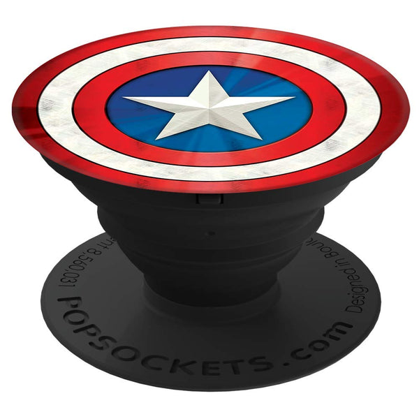 Pop Socket - Marvel Comics - Captain America Logo in Glossy Print - Kryptonite Character Store