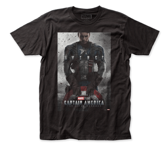 Marvel Comics - Captain America – Poster Adult Fitted T-shirt