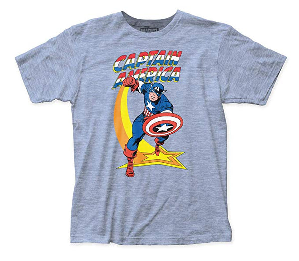 Marvel - Captain America Star Punch Fitted Jersey tee - Kryptonite Character Store
