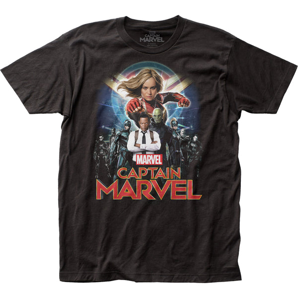 Marvel Captain Marvel Group Shot Impact T-shirt
