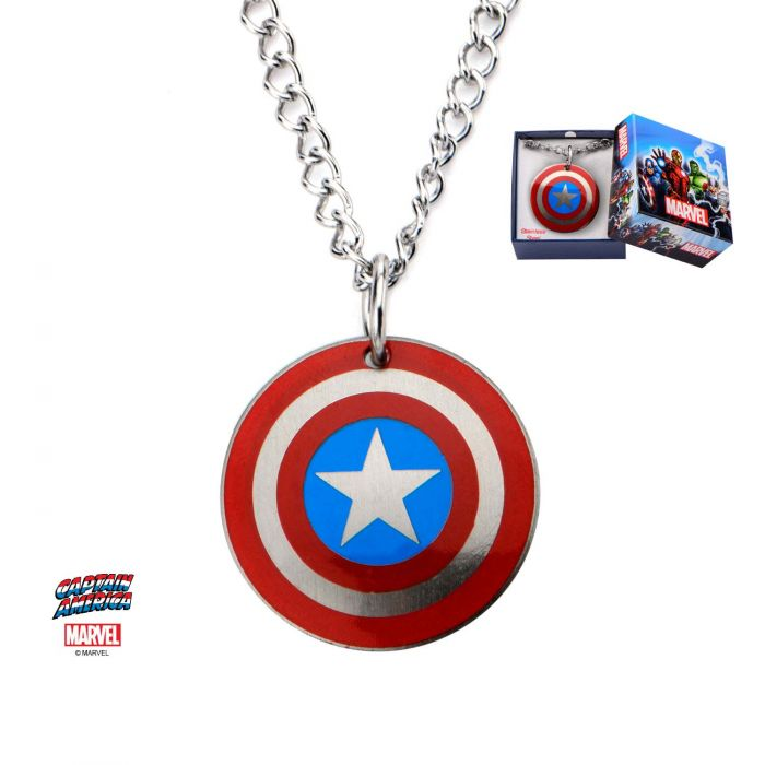 Stainless Steel Captain America Logo Kids Pendant with Chain Pendant
