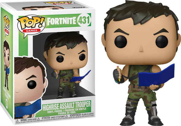 Fortnite Highrise Assault Trooper Pop Vinyl Figure - Kryptonite Character Store