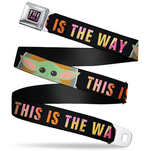 Star Wars The Child Text Full Color Seatbelt Belt