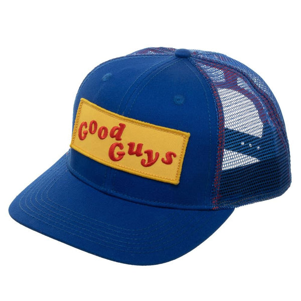 "Chucky Child's Play ""Good Guys"" Blue & Yellow Trucker Hat"