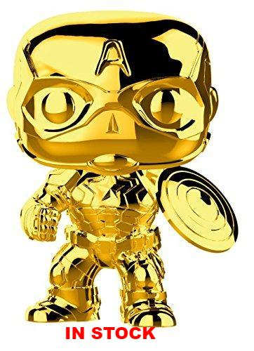 Funko Pop Marvel Studios 10 - Captain America (Gold Chrome) Collectible Figure