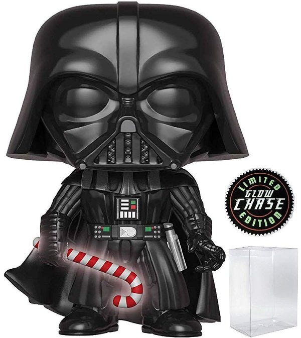Funko Pop! Star Wars: Holiday - Darth Vader with Glow in The Dark Candy Cane (Limited Edition CHASE) Vinyl Figure - Kryptonite Character Store