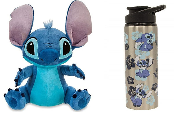 Disney Lilo & Stitch - Stitch Plush & Metal Bottle Set - Kryptonite Character Store