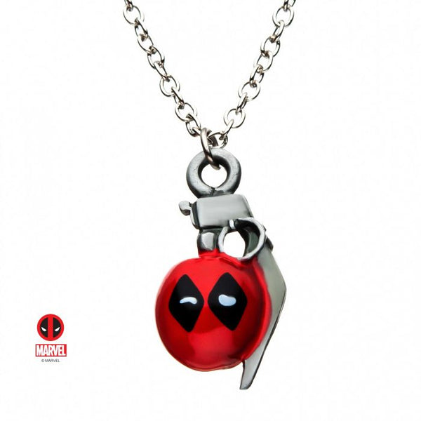 Marvel Deadpool Grenade Pendant Necklace