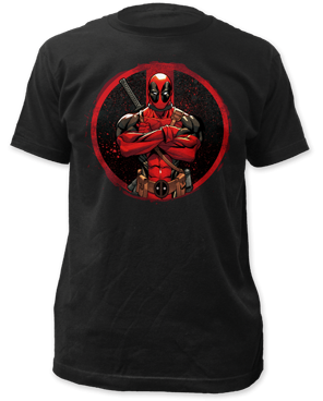 Marvel Deadpool Arms Crossed Adult Fitted T-shirt - Kryptonite Character Store