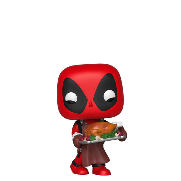 Pop Marvel: Holiday - Deadpool with Turkey - Kryptonite Character Store