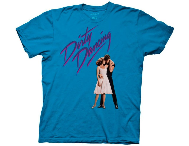 Dirty Dancing - Key Art Adult Fitted T-Shirt - Turquoise