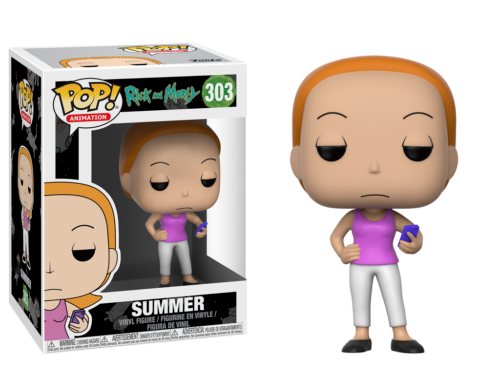 Funko Pop Animation: Rick and Morty-Summer Collectible Figure - Kryptonite Character Store