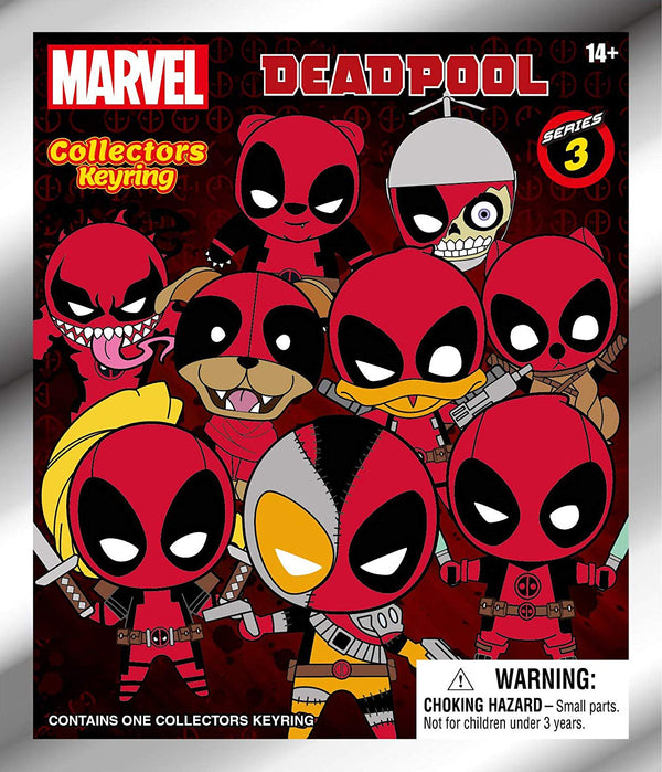 Marvel Figural Keyring - Deadpool - Mystery Pack (Series 3) | Collectible Superhero
