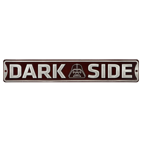 Dark Side Embossed Tin Street Sign - Kryptonite Character Store