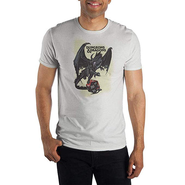 Dungeons and Dragons - White T-Shirt Mens Graphic Tee - Kryptonite Character Store