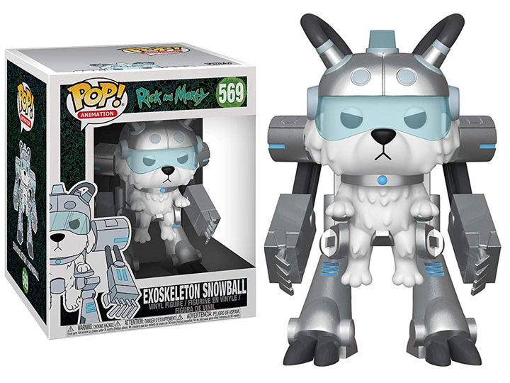 "Rick and Morty - Exoskeleton Snowball 6"" POP Animation Vinyl Figure - Kryptonite Character Store"