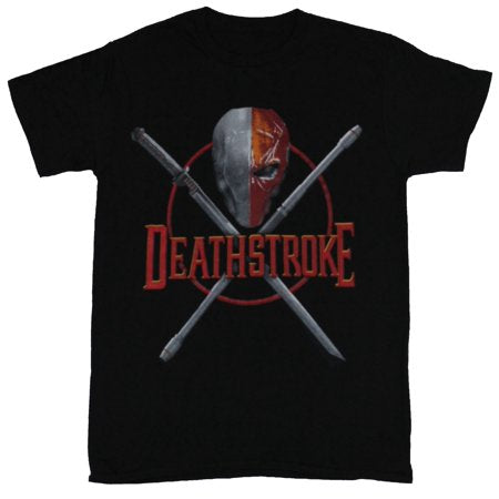 Deathstroke Dc Comics T-Shirt - Crossed Swords Mask and Name Image