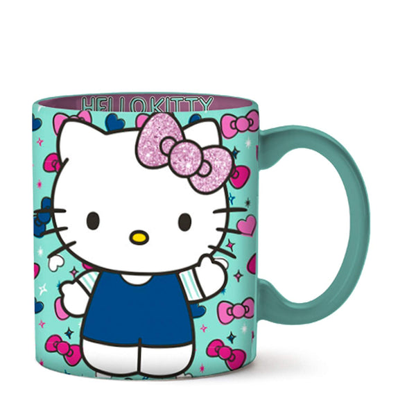 Hello Kitty Bows and Hearts Glitter Ceramic Mug - Kryptonite  Character Store