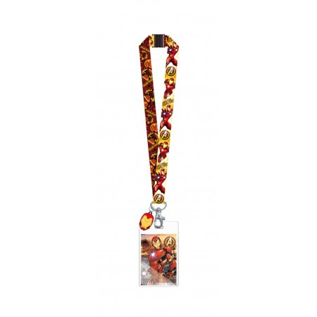 Lanyard - Marvel - Iron Man w/Soft Touch Dangle New