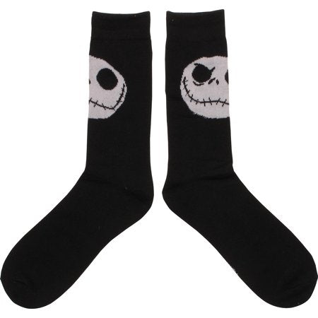 Nightmare Before Christmas Jack Head Crew Socks - Kryptonite Character Store