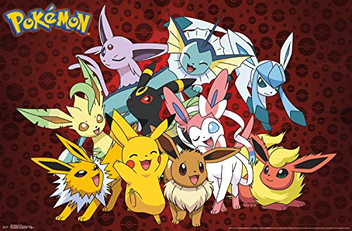 Pokemon Favorites Wall Poster - Kryptonite Character Store