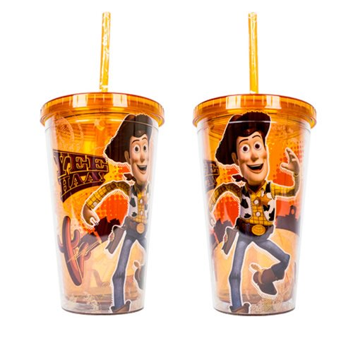 Toy Story Woody Orange 16 oz. Straw Cup - Kryptonite Character Store