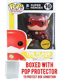 Funko Pop! DC Heroes: The Flash Metallic CHASE Variant Vinyl Figure (Bundled with Pop Box Protector) - Kryptonite Character Store