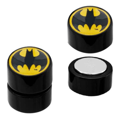 Magnetic Acrylic Faux Plug with Batman Logo Fronts