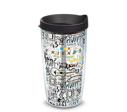 Friends Pattern 16 oz. Tervis Tumbler- Kryptonite Character Store