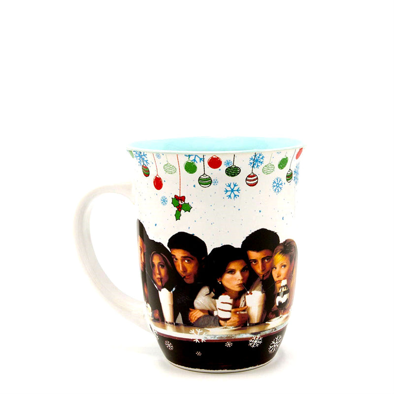 Themed Friends Holiday Group 16oz Wide Rim Ceramic Mug- Kryptonite Character Store
