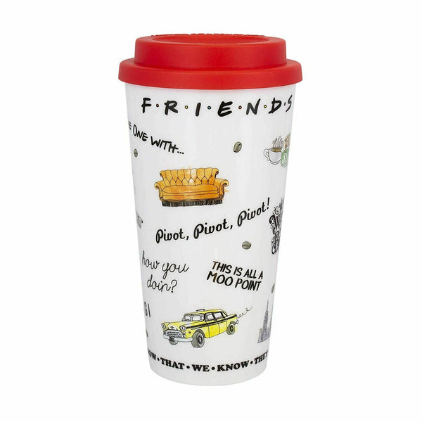 Friends - Travel Mug Insulated Tea & Coffee Cup - 16 oz. - Kryptonite Character Store
