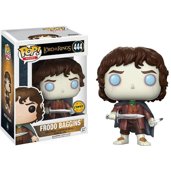 Funko Frodo Baggins (Chase Edition): Lord of The Rings Figure & 1 POP! Compatible PET Plastic Protector