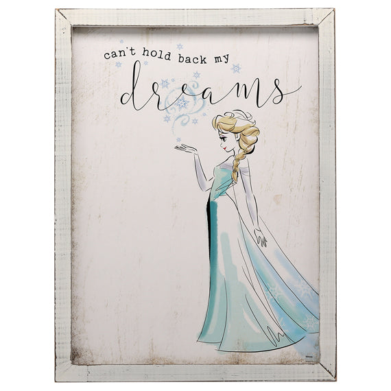 Frozen Wood Framed Wall Decor- Kryptonite Character Store