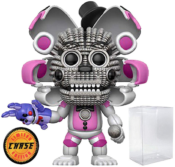 Funko - Five Nights at Freddy's: Sister Location - Funtime Freddy Limited Edition CHASE Pop! Vinyl Figure (Includes Compatible Pop Box Protector Case) - Kryptonite Character Store