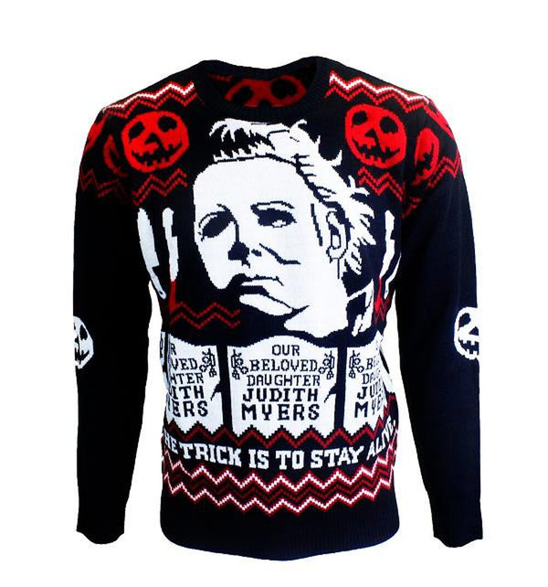 Halloween Michael Meyers Christmas Holiday Sweater