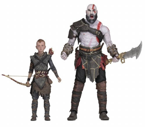 "God of War 4 (2018) Kratos & Atreus 7"" Scale Ultimate Action Figure 2 Pack - Kryptonite Character Store"