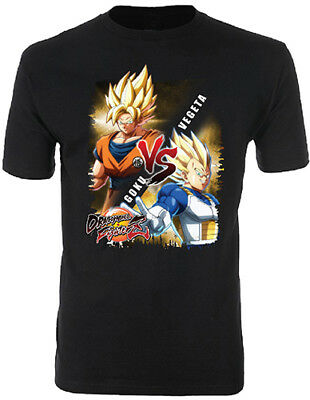 Dragon Ball Z Men's Dragon Ball FighterZ SS Goku Vs SS Vegeta T-Shirt- Kryptonite Character Store