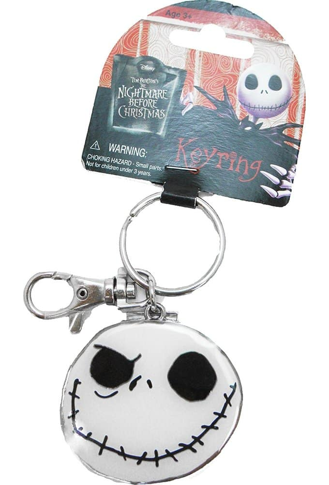 The Nightmare Before Christmas - Good-Bad  Day Face Colored Pewter  Key Ring