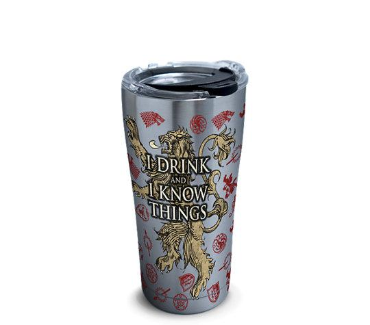 "Game of Thrones ""I Drink and I Know Things"" 20 oz. Stainless Steel Tervis Tumbler- Kryptonite Character Store"
